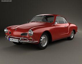 Volkswagen Karmann Ghia 1955 3D