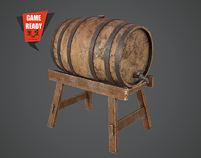 BARREL OLD 2 Game Ready PBR Low-poly 3D asset