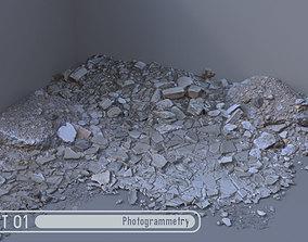 3D asset Rubble Pile Set 01