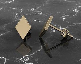 Jewelry Earring Rhombus Shape 3D printable model