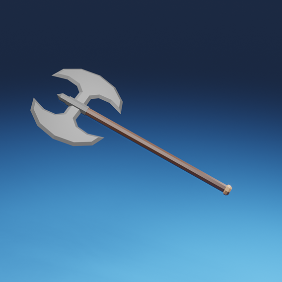 Low-poly stylized medieval weapons pack
