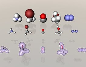 Collection of tiny molecules 3D