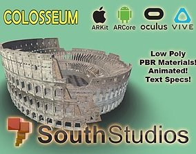 Animated Colosseum AR VR Unity 3dsmax animated