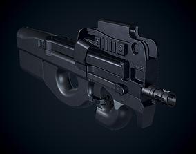 3D model low-poly FN P90