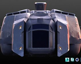 3D model Futuristic Military Spaceship