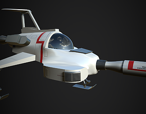 UFO Interceptor-stylised model from the TV show 3D