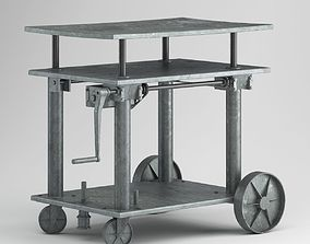 Grey Factory Table 3D model
