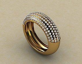 Turkish Diamond Jewellery Ring 3D