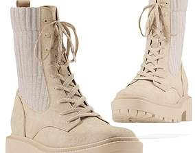 SamEdelman Lydell Boot - Seasame 3D model