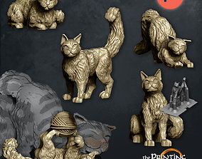3D print model House Cats - Presupported - 5 poses