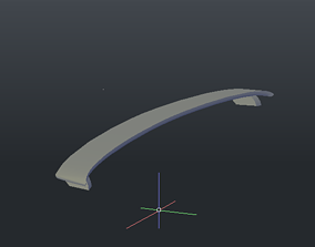 Rear wing spoiler volvo s60 2001 2009 3D printable model