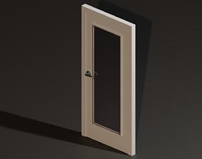 3D model VR / AR ready Door with window