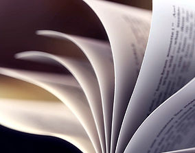 Book Animated leaves Loopable 3D model