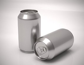 Aluminum soda can 3D model