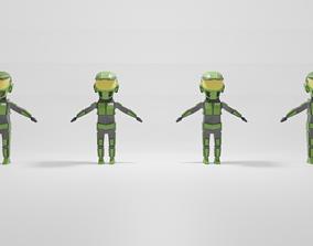 Halo Blueteam 3D asset