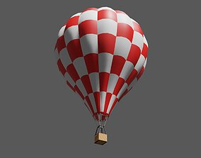 Red Balloon Checkered - Balao Vermelho 3D asset
