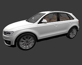 Audi Q3 model OBJ and blender file 3D asset