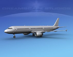 3D Airbus A321 Unmarked 1