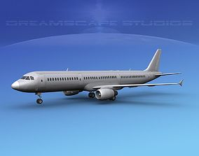 3D model Airbus A321 Unmarked 1