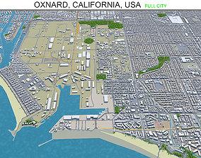 Oxnard California USA 30km 3D model