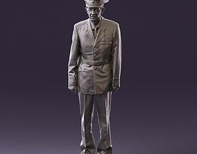 Old man in veteran suit 0915 3D Print Ready military