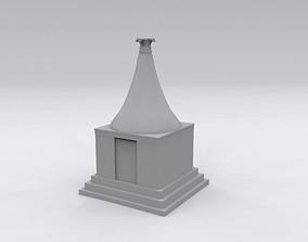 funeral chamber 3D asset