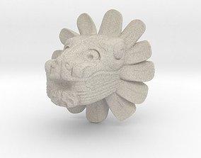 Mayan Figure Lion 3D print model