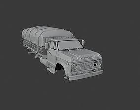 Truck old cargo 3D model