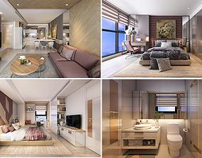 P Apartment Interior full rooms A2 3D model