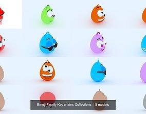 Emoji Family Key chains Collections 3D model