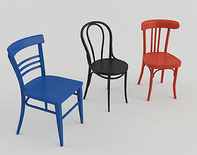 Bar Cafeteria Chairs 3D