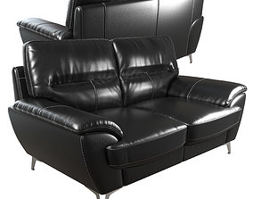 3D model Protter Leather-Look Fabric Loveseat