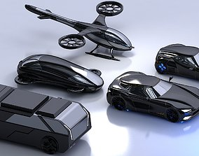3D model Futuristic Car Collection 1001