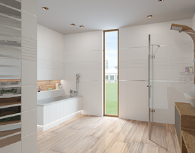 Bathroom 07 3D model realtime