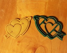 Hearts cookie cutter 3D printable model