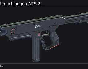 3D asset Scifi Submachinegun APS 2