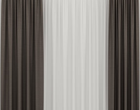 Brown curtains 3D model