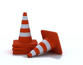 Stack Of New Traffic Cones 3D
