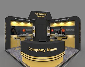Exhibition stall 3d model 4x4 mtr 2 sides open buy