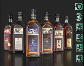3D Hankey Bannister Blended Scotch Whisky Bottles