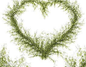 3D Leaf heart
