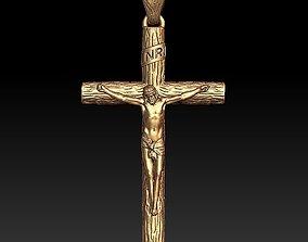 3D print model Jesus cross pendant