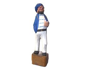 3D asset Sailor Man Figure