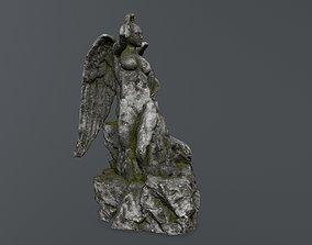 nature 3D model realtime woman statue 2