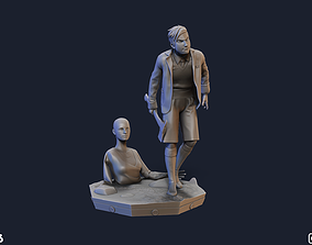 3D printable model Five and Delores The Umbrella Academy