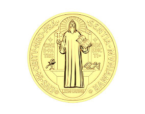 3D print model Saint Benedict Coin