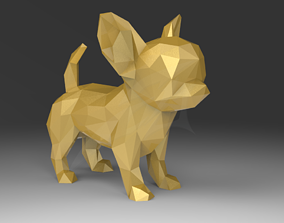 3D printable model Low Poly Chihuahua STL for