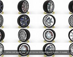 ORTAS CAR WHEEL RIM 111-112-113-114-115 GAME READY 3D