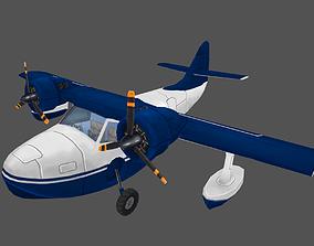 Seaplane 3D asset