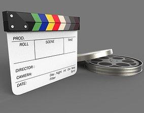 3D Movie Clappboard